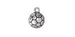 Antique Silver (plated) Soccer Ball Charm 11x14mm