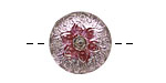 Czech Glass Orchid Starflower Button 19mm