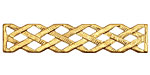 Brass Latticework Bar 10x49mm