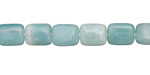 Amazonite Puff Rectangle 10x8mm
