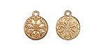 Zola Elements Matte Gold (plated) Baroque Flower Charm 11.5x14mm