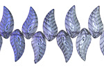 Luster Blue Crystal Leaf Drop 8x18mm