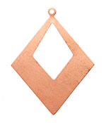 Copper Open Diamond Drop Blank 40x52mm