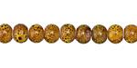 Sunflower w/ Speckles Porcelain Tumbled Rondelle 5x7mm