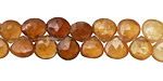 Hessonite Ombre Faceted Flat Teardrop 7-8mm