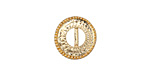Zola Elements Matte Gold (plated) Beaded Round Bezel 7mm Flat Cord Slide 14mm