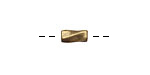 Antique Brass (plated) Twisted Rectangle 9x4mm