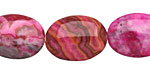 Ruby Crazy Lace Agate Flat Oval 20x15mm