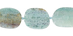 Blue Green Quartz (Matte) Oval Slice 18-22x12-15mm