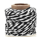 Black & White Bamboo Bakers Twine, 147.6 ft