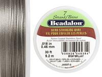 "Beadalon Bright .018"" 7 Strand Wire 30ft."