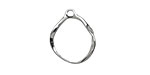 Amoracast Sterling Silver Organic Split Circle Drop 16x20mm