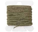 Olive Drab Irish Waxed Linen 3 ply