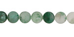 Green Chalcedony (matte) Round 8mm