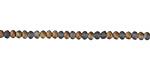 Matte Black Diamond w/ Bronze Luster Crystal Faceted Rondelle 3mm
