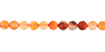 Carnelian (natural-orange) Faceted Round 4-5mm