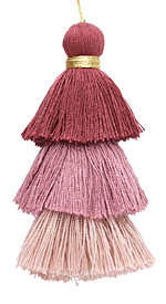 Grape Ice Mix 3-Tiered Tassel 75mm