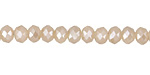 Pearl Crystal Faceted Rondelle 6mm