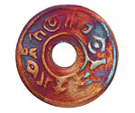 Xaz Raku Stan's Rust Message Coin 37-38mm
