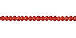 Paprika Crystal Faceted Rondelle 3mm