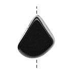 Tagua Nut Black Thick Slice 16-18x26-32mm
