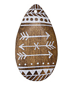 Summer Wind Art Native Arrow Wood Pendant 29x54mm