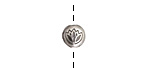 Antique Silver (plated) Lotus Coin Bead 8mm