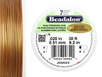 "Beadalon Satin Gold .020"" 7 Strand Wire 30ft."