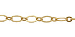 Satin Hamilton Gold (plated) Horse Eye & Ring Chain, 25ft Spool