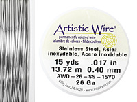 Artistic Wire Stainless Steel 26 gauge, 15 yards