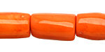 Coral Tumbled Barrel 15x10-22x15mm
