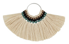 Zola Elements Woodland Fanned Tassel on Ring w/ Silver Finish 89x50mm