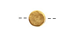 Nunn Design Antique Gold (plated) Mini Organic Flat Circle 10.5mm