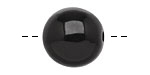 Tagua Nut Black Round 20mm