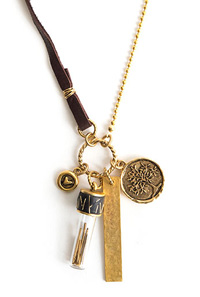 Nunn Design Antique Gold (plated) Itsy Bottle Boho Necklace Kit