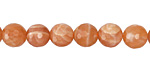 Peach Moonstone Faceted Round 8mm