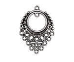 Antique Silver Finish Geometric Filigree Chandelier Focal 25x33mm
