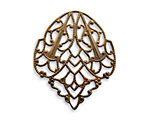 Vintaj Natural Brass Delicate Crest Filigree 28x33mm