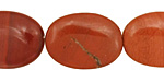 Red Jasper Flat Oval 25x18mm