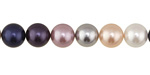 Grape Smoothie Shell Pearl Mix Round 8mm