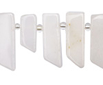 White Jade Stick Slice Focal Set 9-11x26-35mm