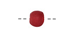 African Recycled Glass Cherry Red Tumbled Round 10-11mm