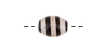 Tibetan (Dzi) Agate Black Banded Rice Focal 14x10mm