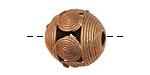 African Brass Wrapped Circles Round 18-20mm