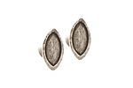 Nunn Design Antique Silver (plated) Itsy Navette Earring Post 5.5x11mm
