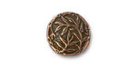 TierraCast Antique Copper (plated) Bamboo Button 16mm