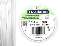 "Beadalon White .018"" 7 Strand Wire 30ft."