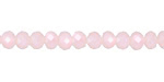 Pink Opal Crystal Faceted Rondelle 6mm