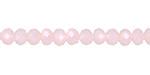 Pink Opal Crystal Faceted Rondelle 6mm