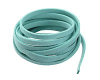 Turquoise Microsuede Flat Cord 5mm